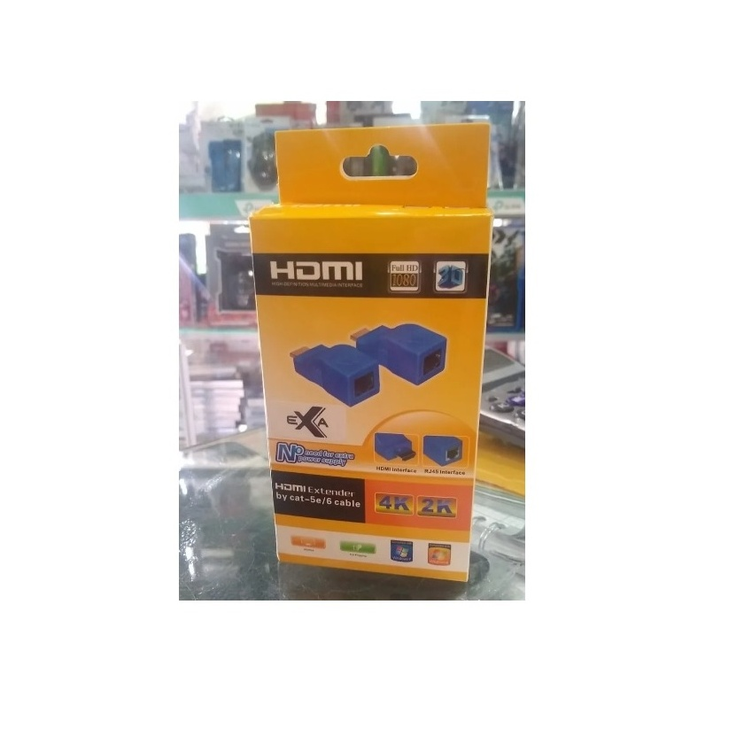 Extensor Hdmi Hasta 30 Metros Requiere 1 Cable De Red Utp