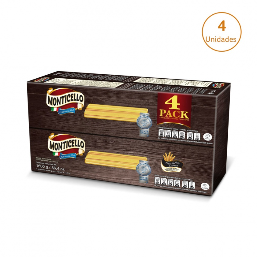 Fettuccine Monticello x 4uds x 400g