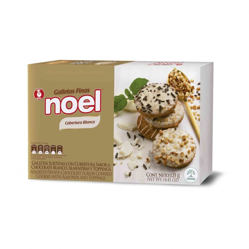 Galletas Finas Surtidas Chocolate Blanco Noel x 125g