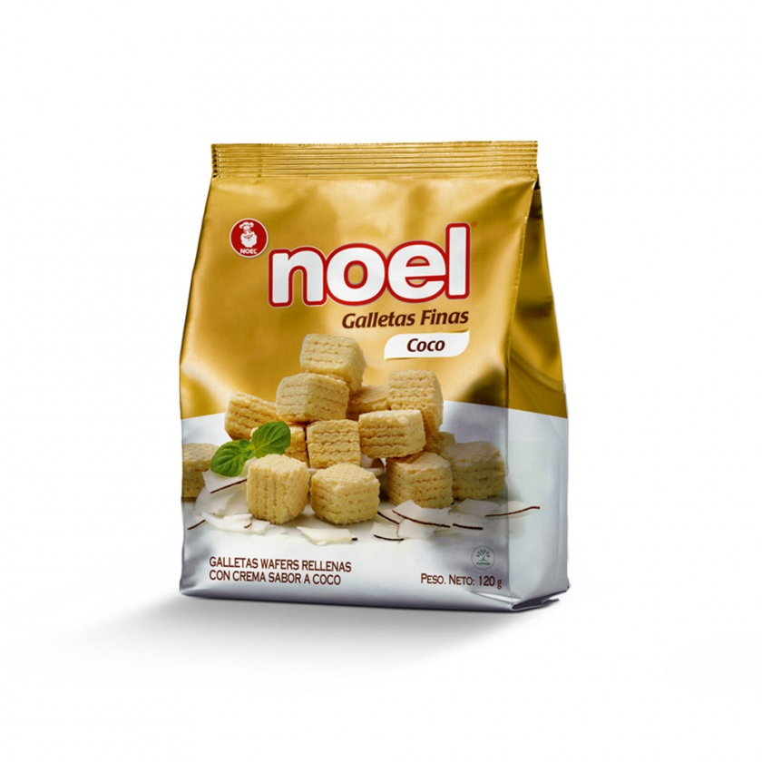 Galletas Wafer Cubitos Coco Noel  x 120g