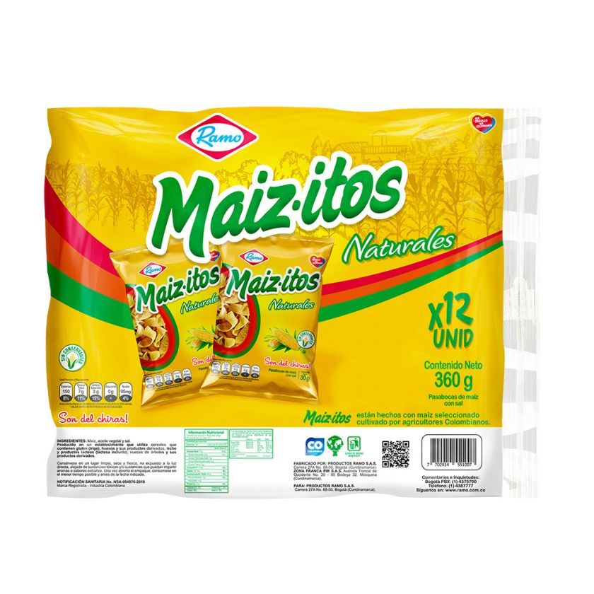 Maizitos Natural Ramo x12 uds 360 g
