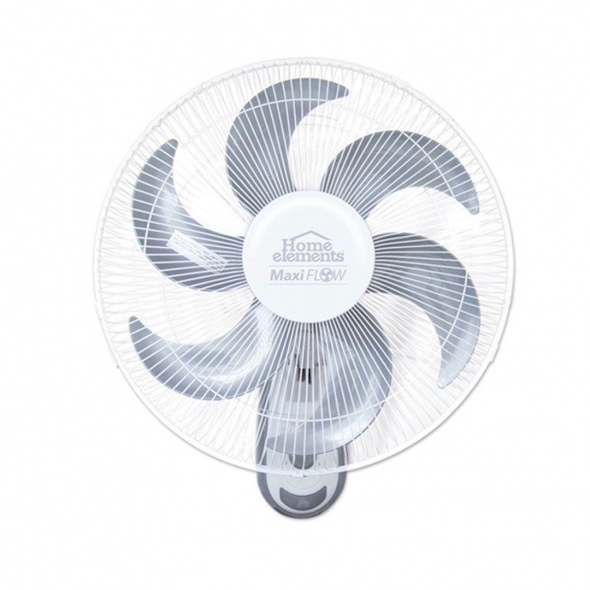 "Ventilador Pared 18"" Rejilla Metálica 6 Aspas Blanco Home Elements"