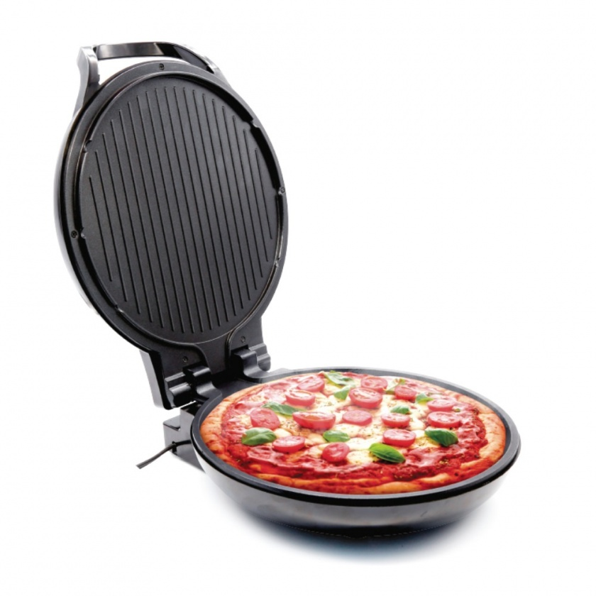 Pizza Maker Antiadherente Grill 1300W Negro Home Elements