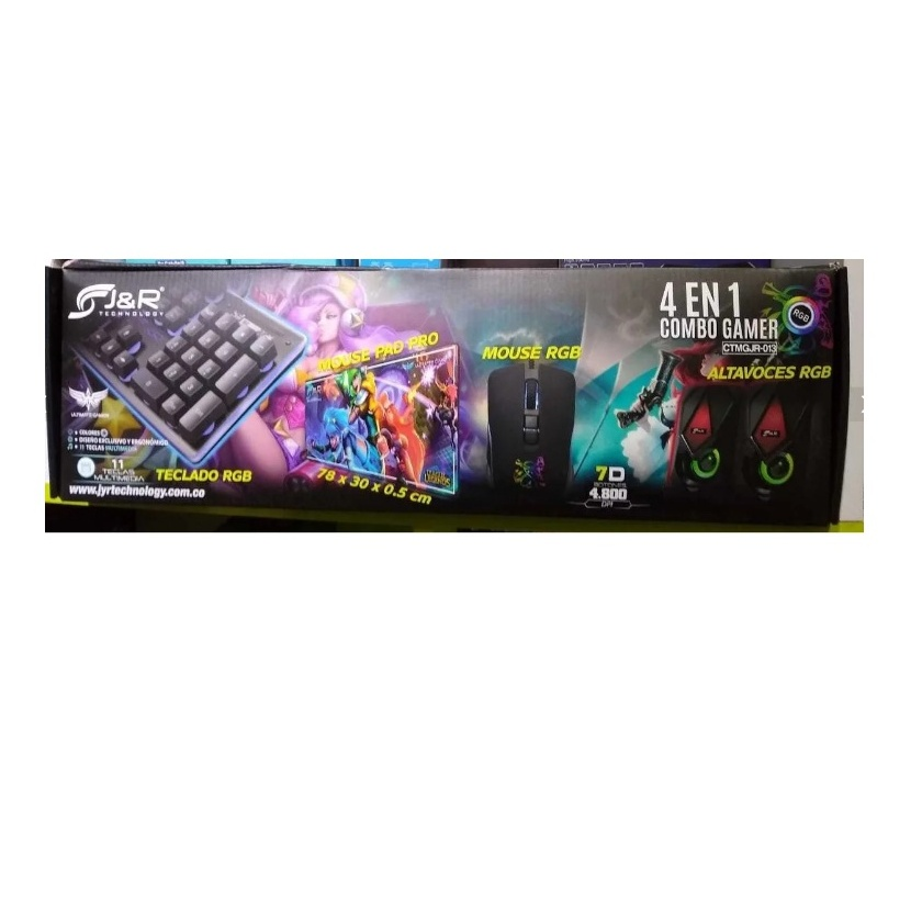 Combo Gamer Teclado, Mouse, Parlante, Pad Mouse Ctmgjr-013