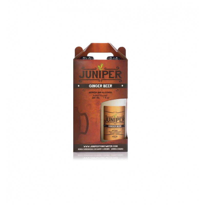 Mezcladores - Juniper Ginger Beer (208 ml) pack x 4