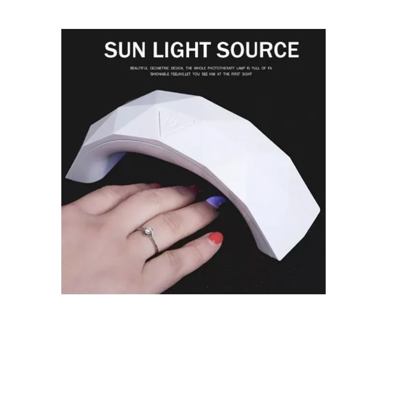 Secador De Uñas Lampara Uv Led Sun Mini 9w 3 Leds